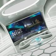 未来的なSFニューススタジオ3D 3d model