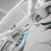 Sala futuristica di fantascienza 3d model