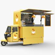 Piaggio Food 커피 트럭 3d model