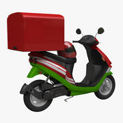 Food Delivery Scooter 3d model