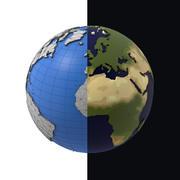 Einfache Karikatur des einfachen Poly der Erde 3d model