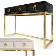 Console Cosmopolitan Ébano / Pergaminho. ART Furniture 3d model