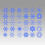 Flocos de neve 3d model
