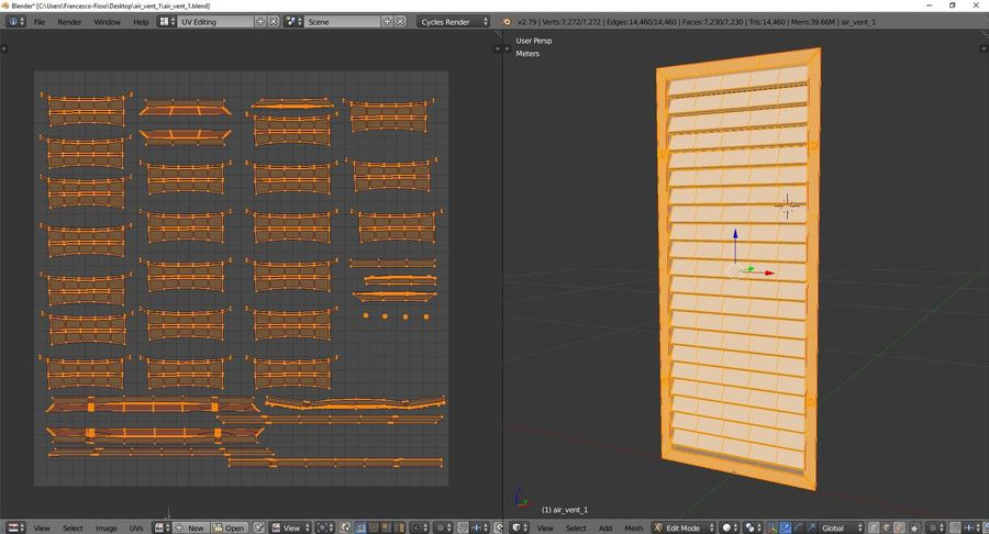 Air vent 1 royalty-free 3d model - Preview no. 10