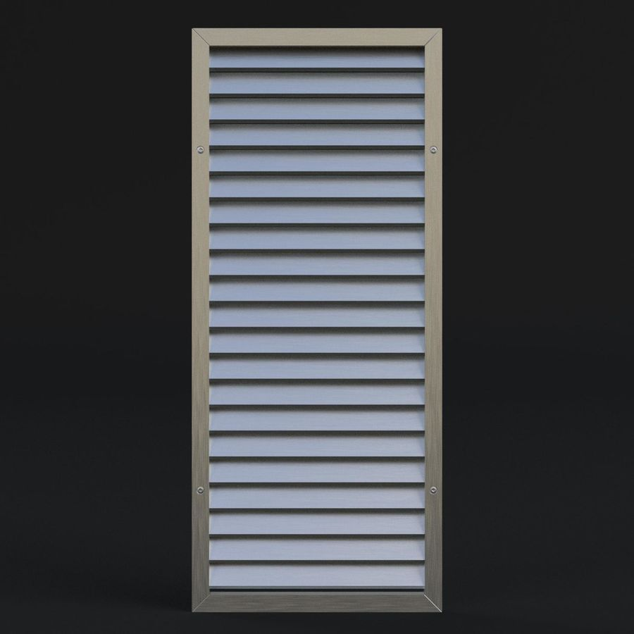 Air vent 1 royalty-free 3d model - Preview no. 3