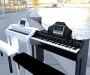 搅拌机钢琴 3d model