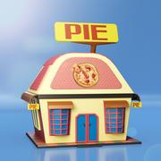 Pie Shop house 3d model