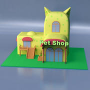 Pet Shop Out 3d model