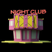 Night Club Out 3d model
