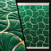 Wall panel. soft panel. textile 3d model