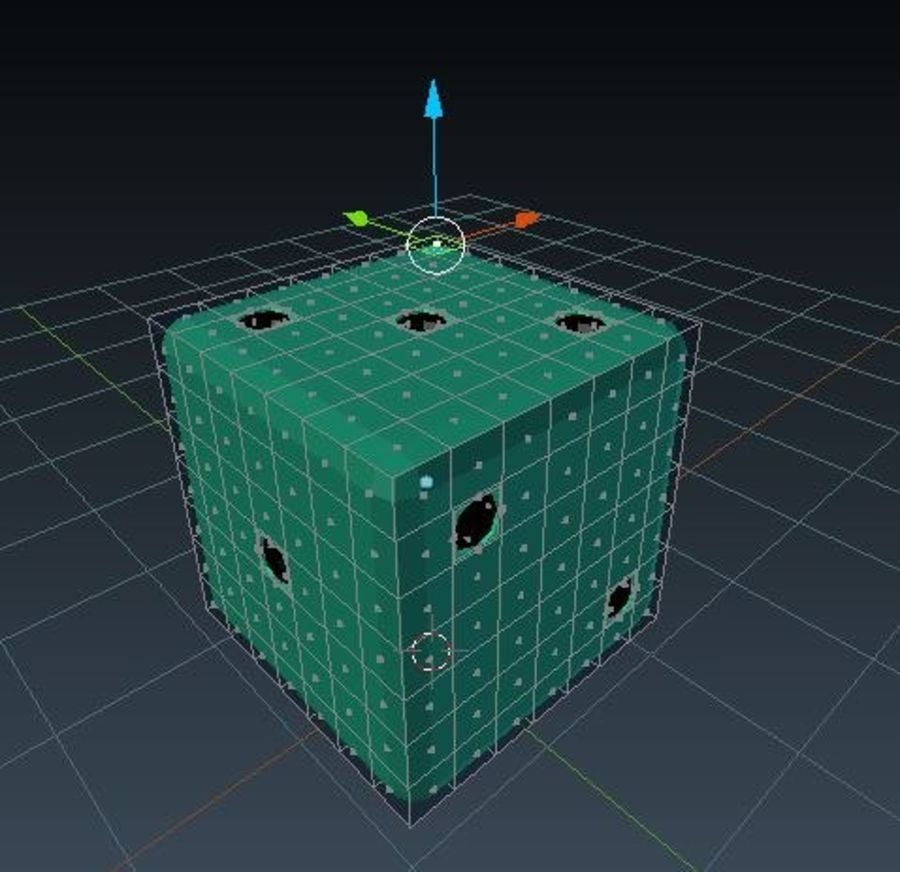 dice royalty-free 3d model - Preview no. 3