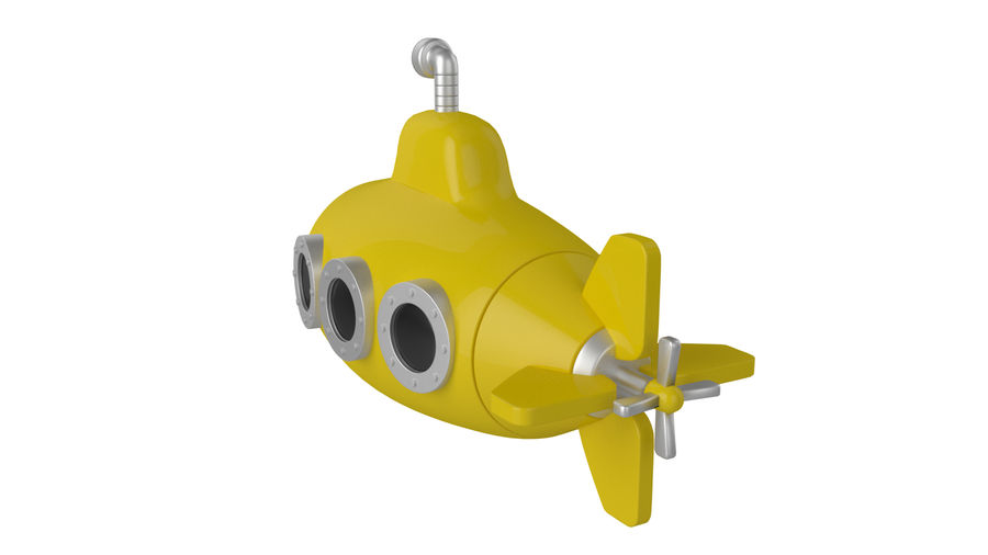 Stylised submarine royalty-free 3d model - Preview no. 5