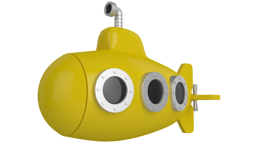 Stylised submarine royalty-free 3d model - Preview no. 1