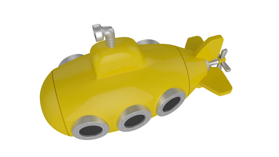 Stylised submarine royalty-free 3d model - Preview no. 3