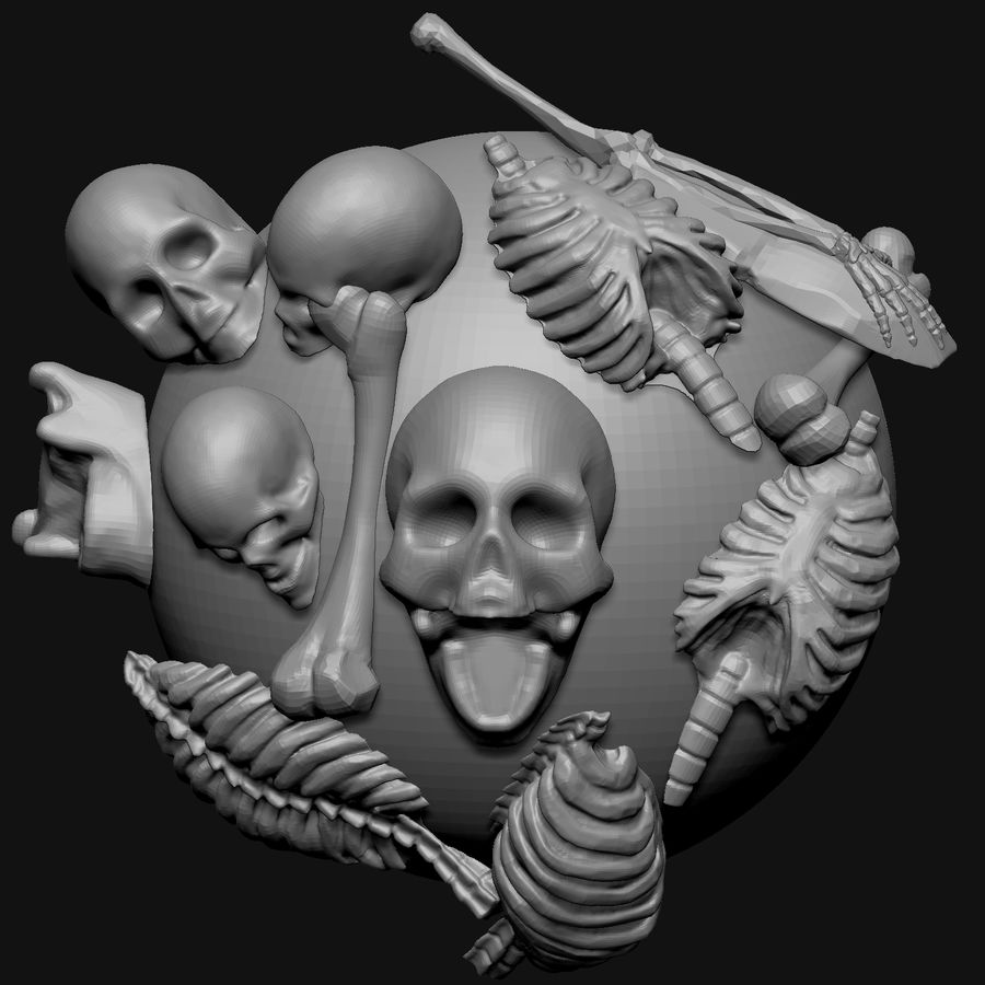 Stylised Bones royalty-free 3d model - Preview no. 1