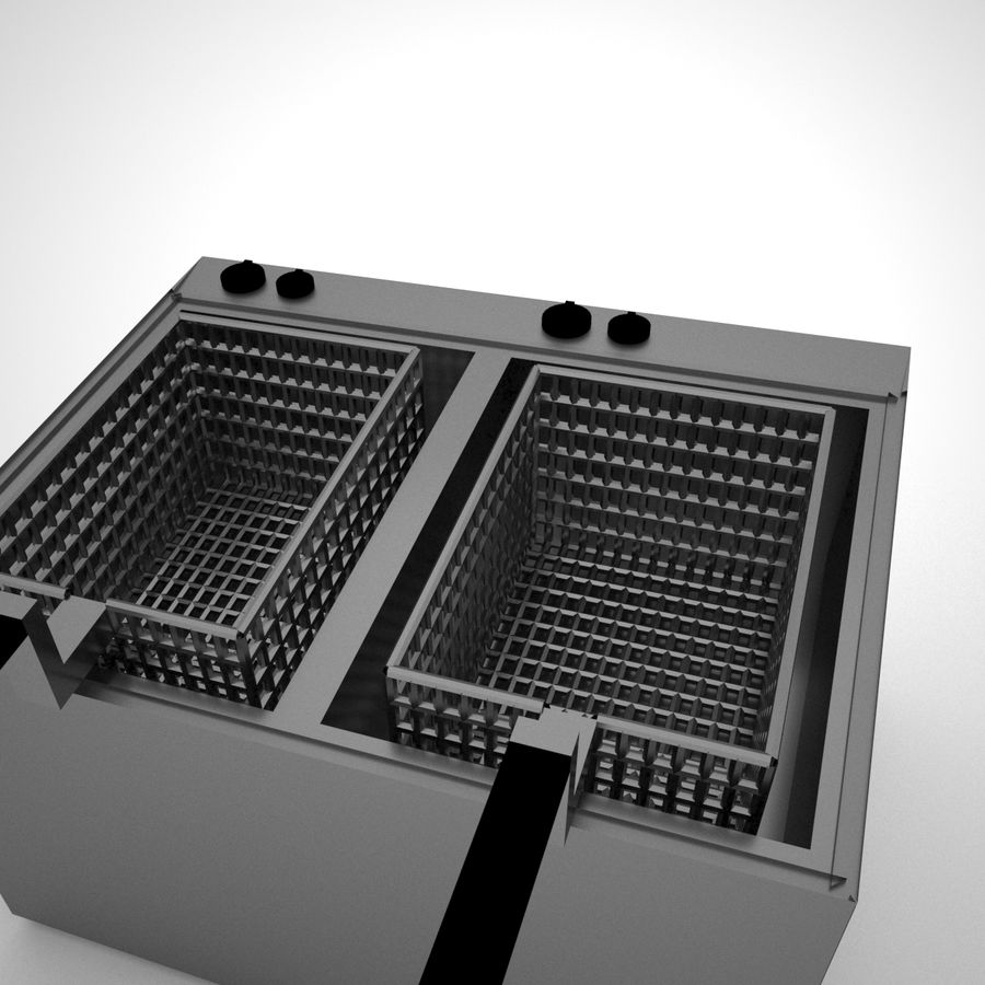 Fryer royalty-free 3d model - Preview no. 5