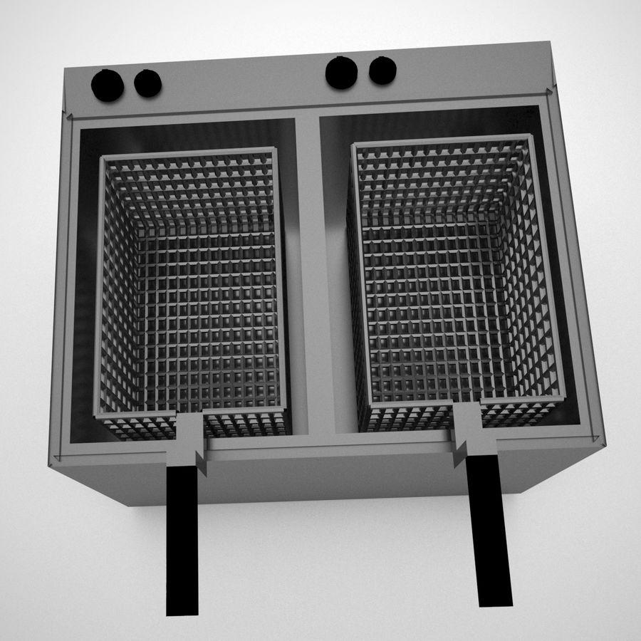 Fryer royalty-free 3d model - Preview no. 3