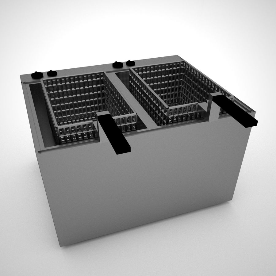 Fryer royalty-free 3d model - Preview no. 2