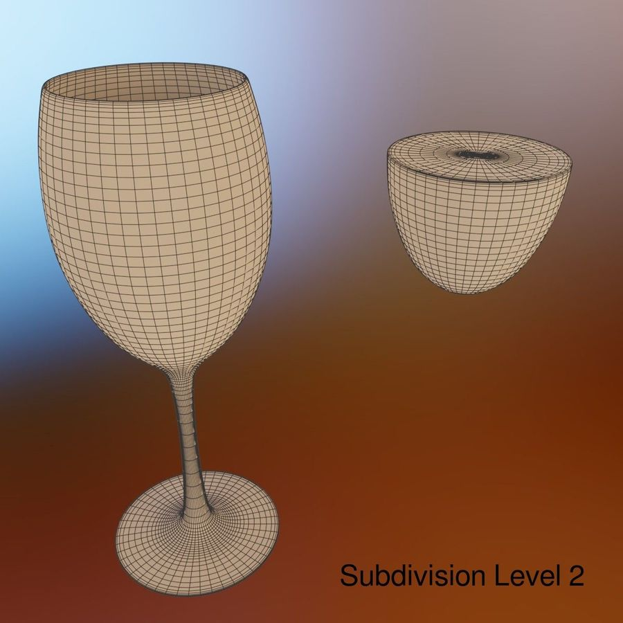 Wine Glass royalty-free 3d model - Preview no. 7
