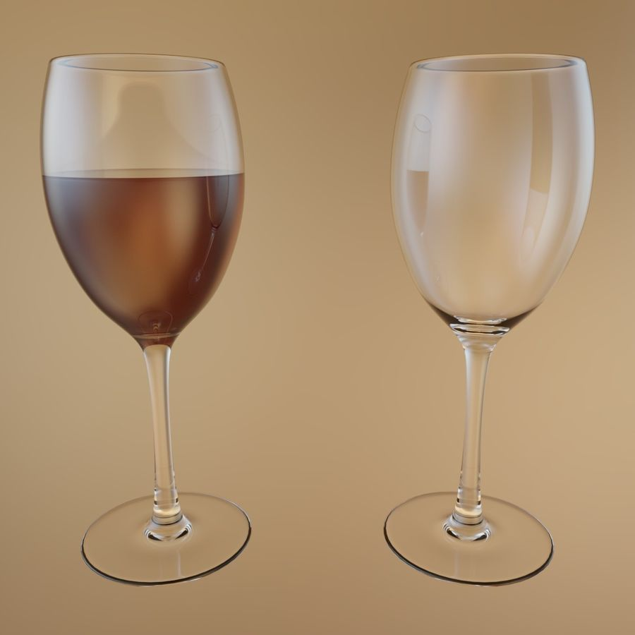 Wine Glass royalty-free 3d model - Preview no. 2