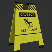piso molhado 3d model