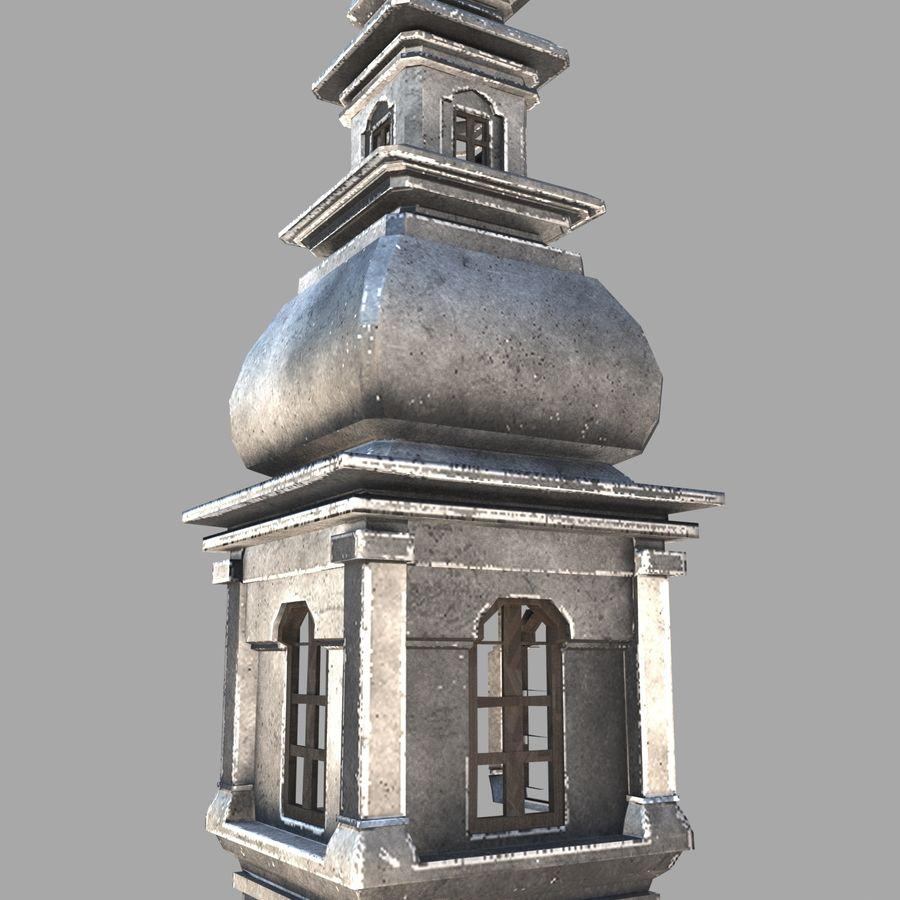 Torre da igreja royalty-free 3d model - Preview no. 3