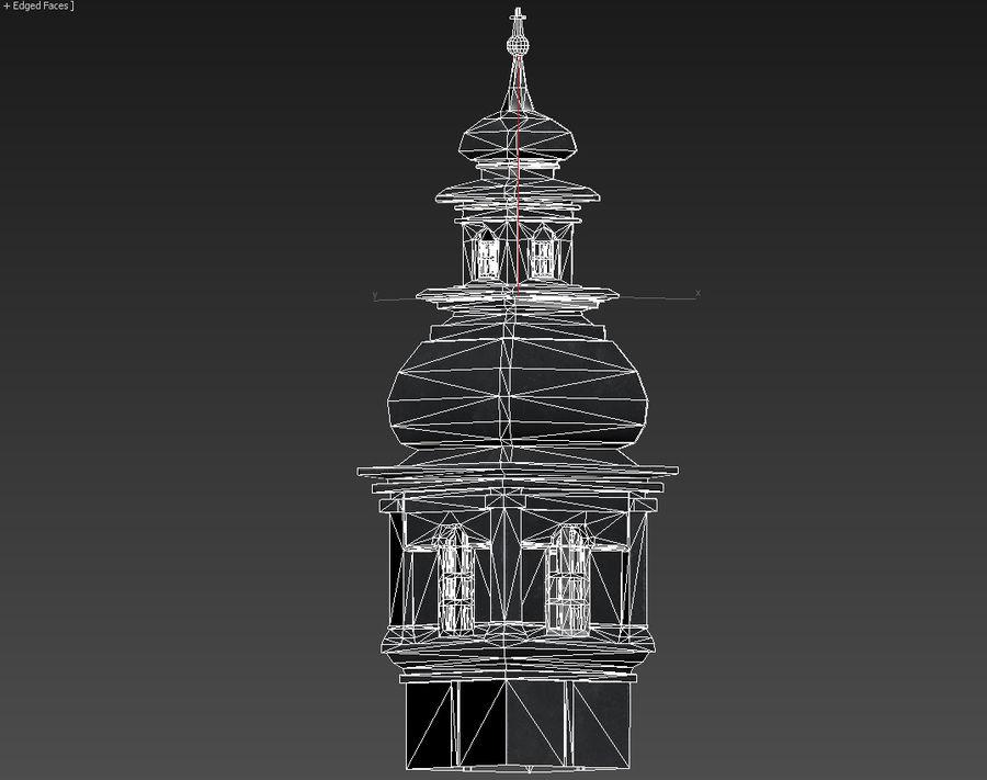 Torre da igreja royalty-free 3d model - Preview no. 12