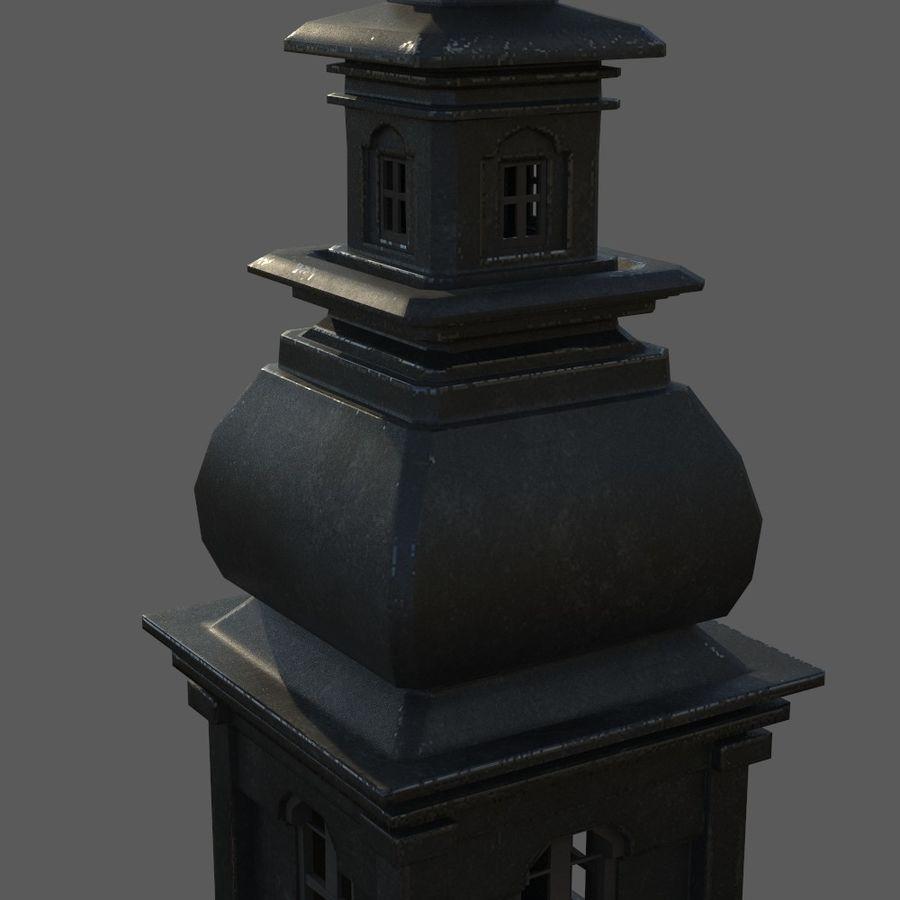Torre da igreja royalty-free 3d model - Preview no. 7