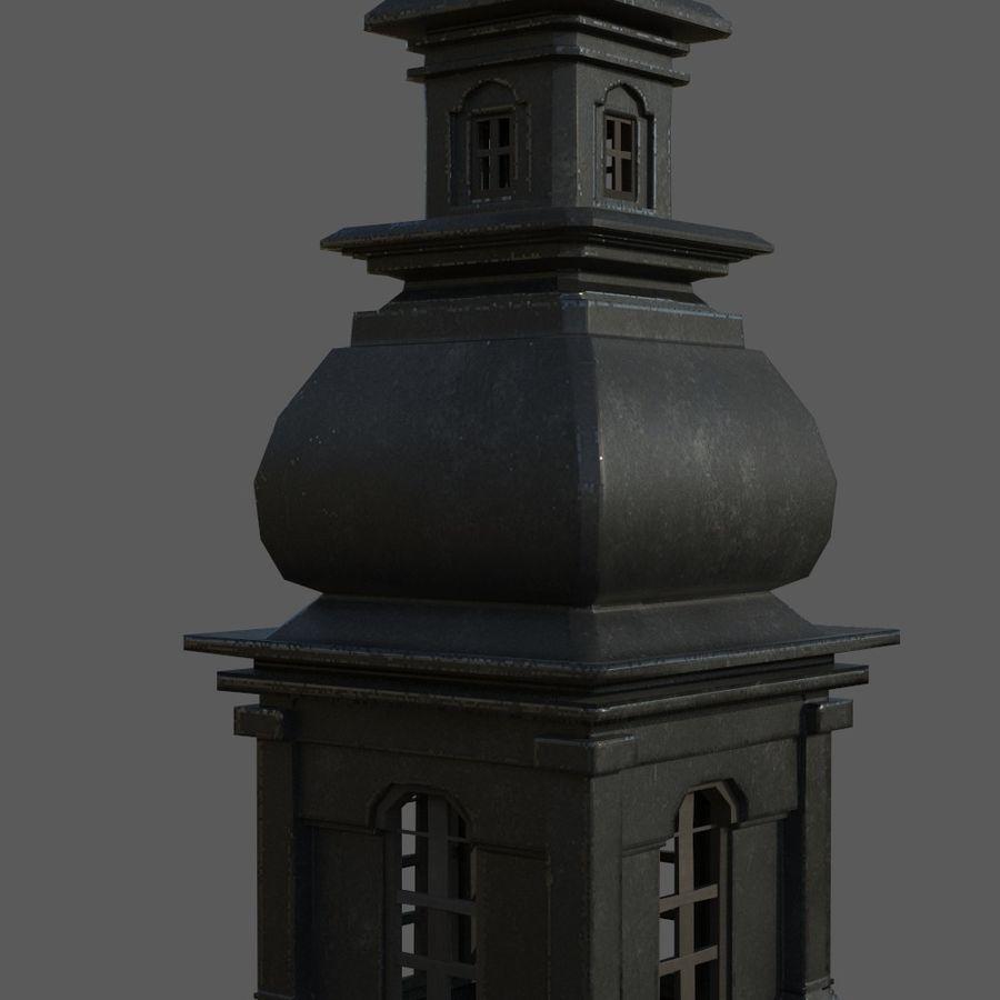 Torre da igreja royalty-free 3d model - Preview no. 6