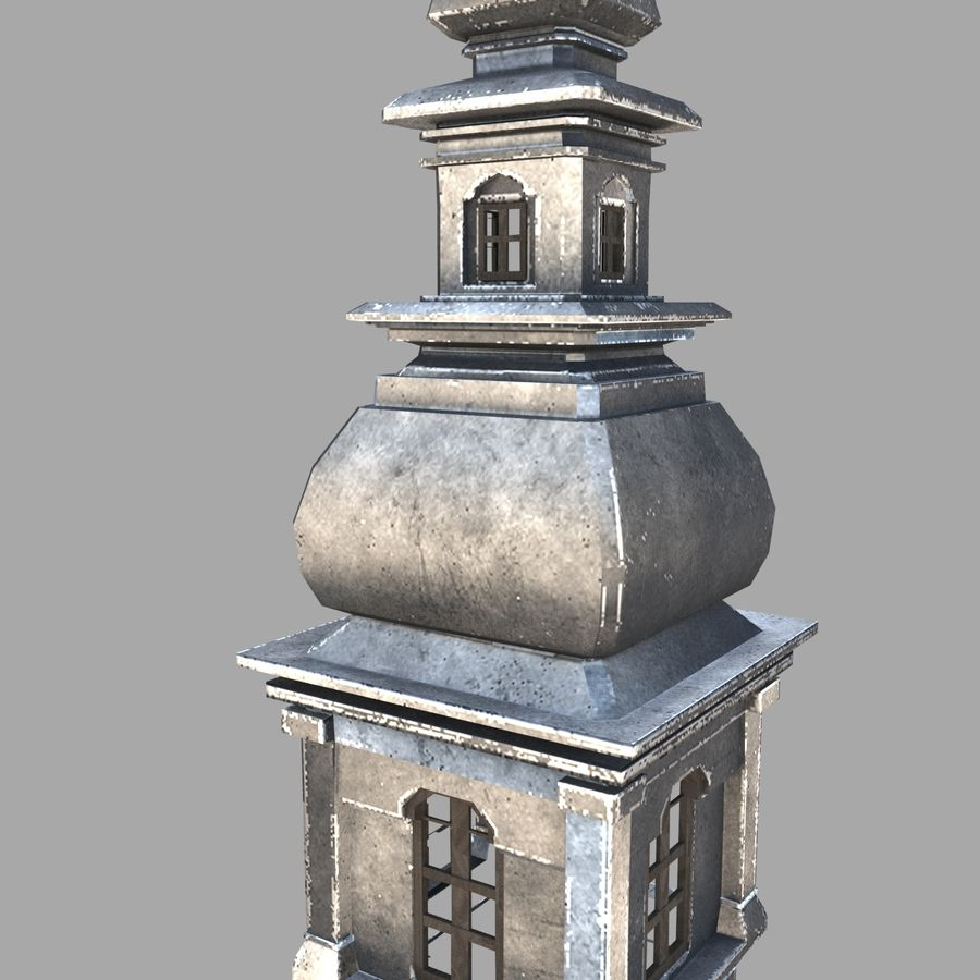 Torre da igreja royalty-free 3d model - Preview no. 4