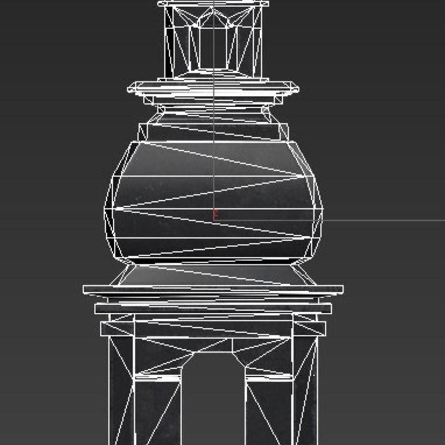 Torre da igreja royalty-free 3d model - Preview no. 13