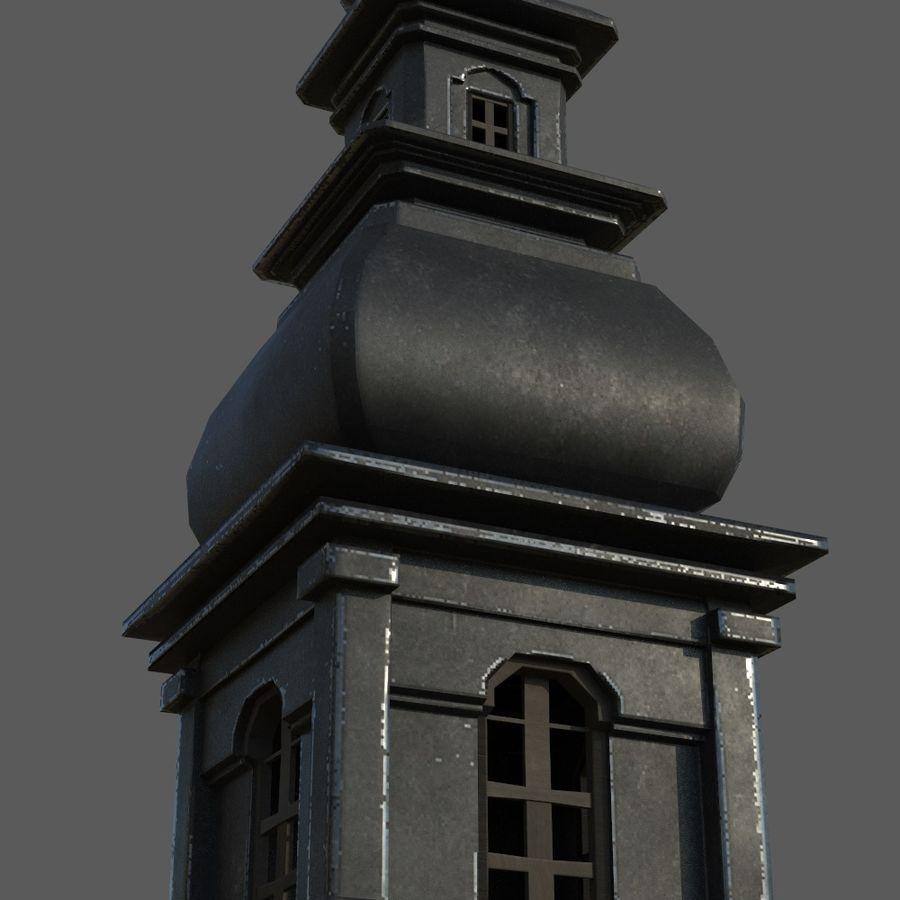 Torre da igreja royalty-free 3d model - Preview no. 8