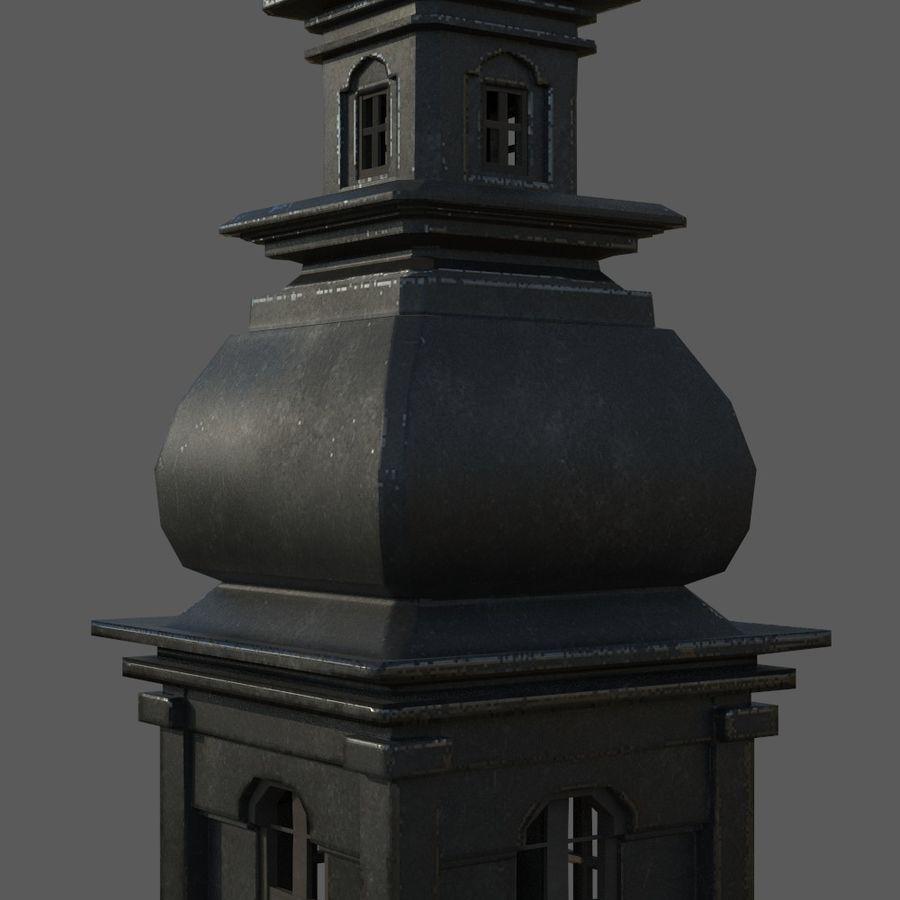 Torre da igreja royalty-free 3d model - Preview no. 5