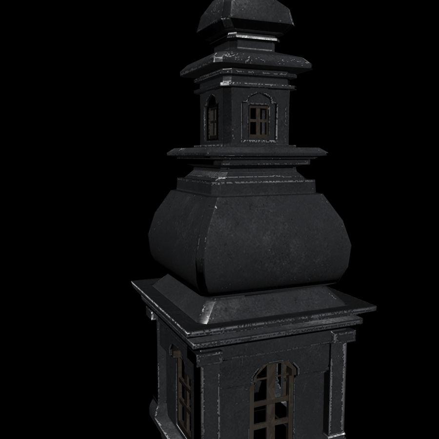 Torre da igreja royalty-free 3d model - Preview no. 10