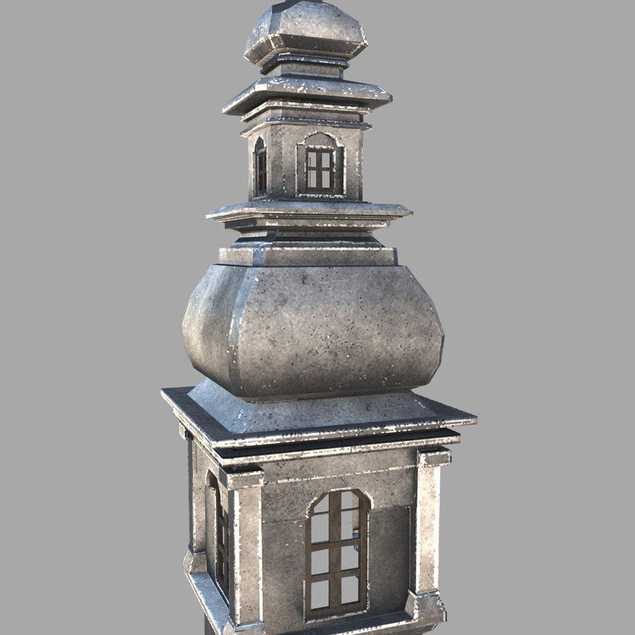 Torre da igreja royalty-free 3d model - Preview no. 2