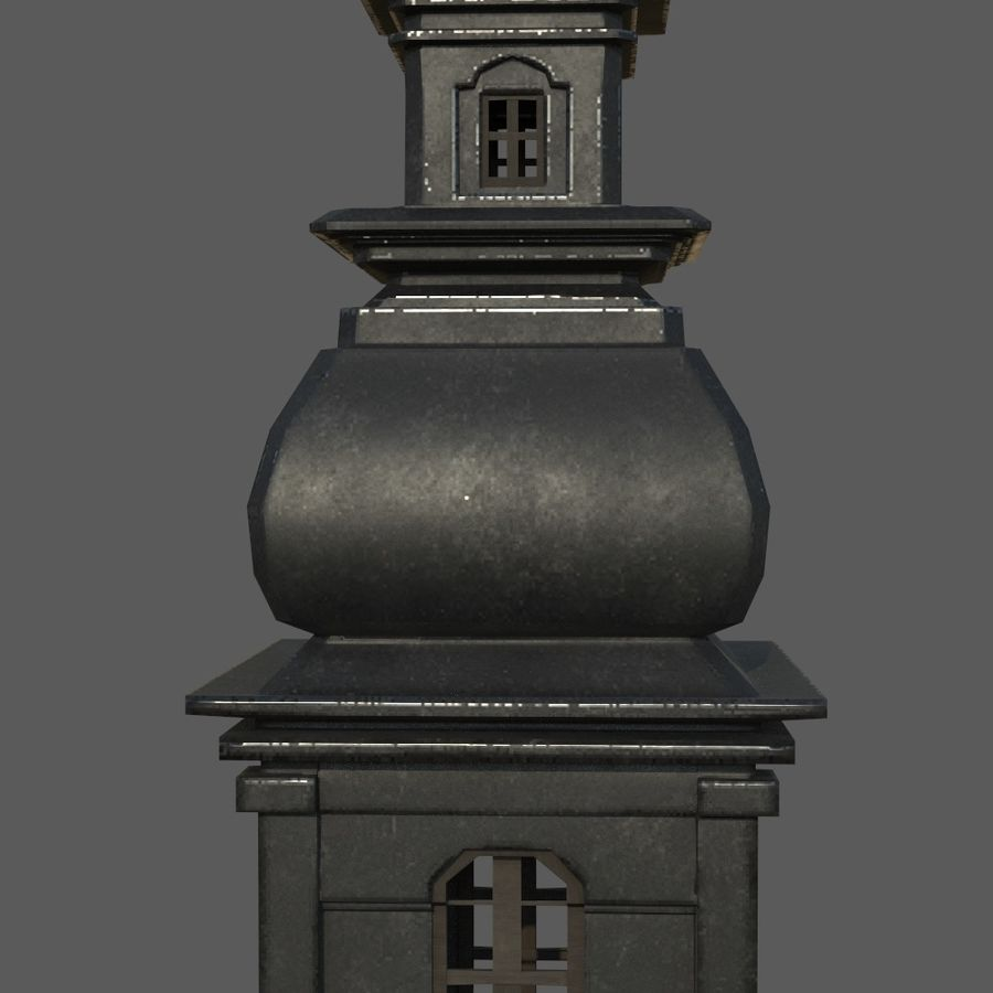 Torre da igreja royalty-free 3d model - Preview no. 1