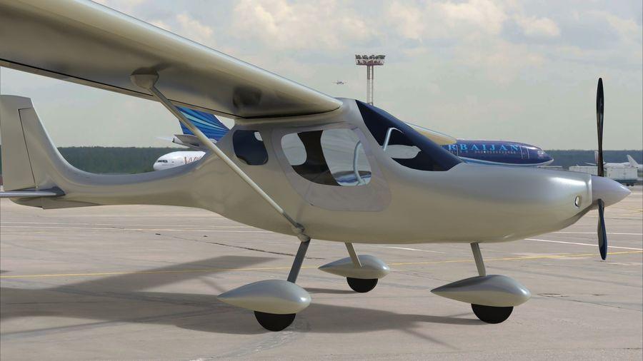 avión pequeño royalty-free modelo 3d - Preview no. 1