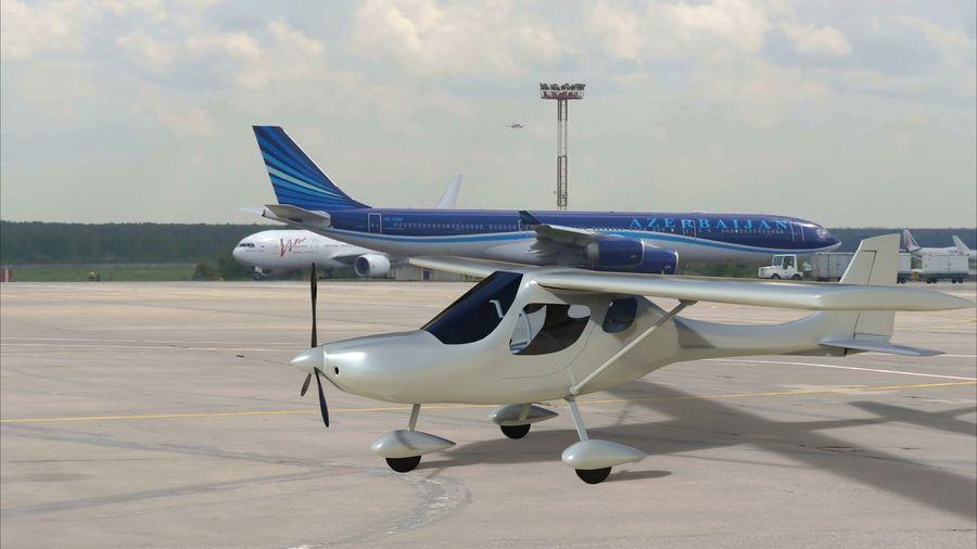 avión pequeño royalty-free modelo 3d - Preview no. 3