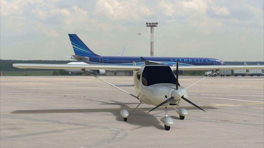 avión pequeño royalty-free modelo 3d - Preview no. 2
