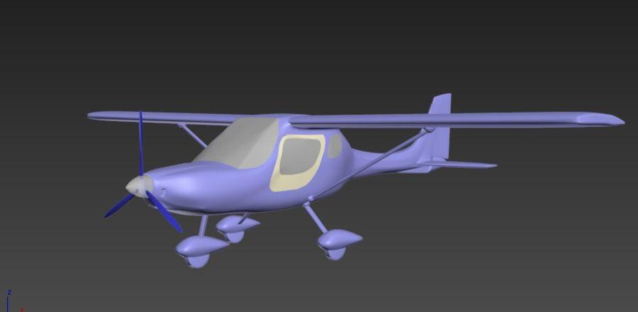 avión pequeño royalty-free modelo 3d - Preview no. 5