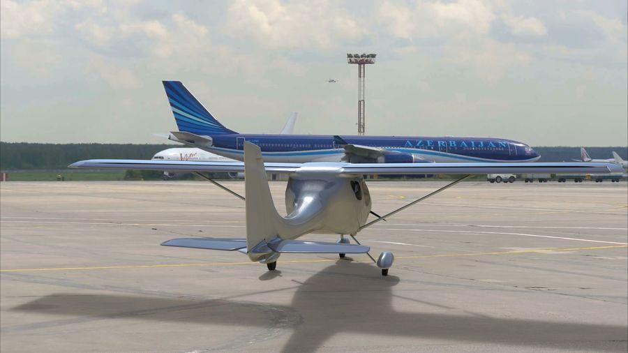 avión pequeño royalty-free modelo 3d - Preview no. 4