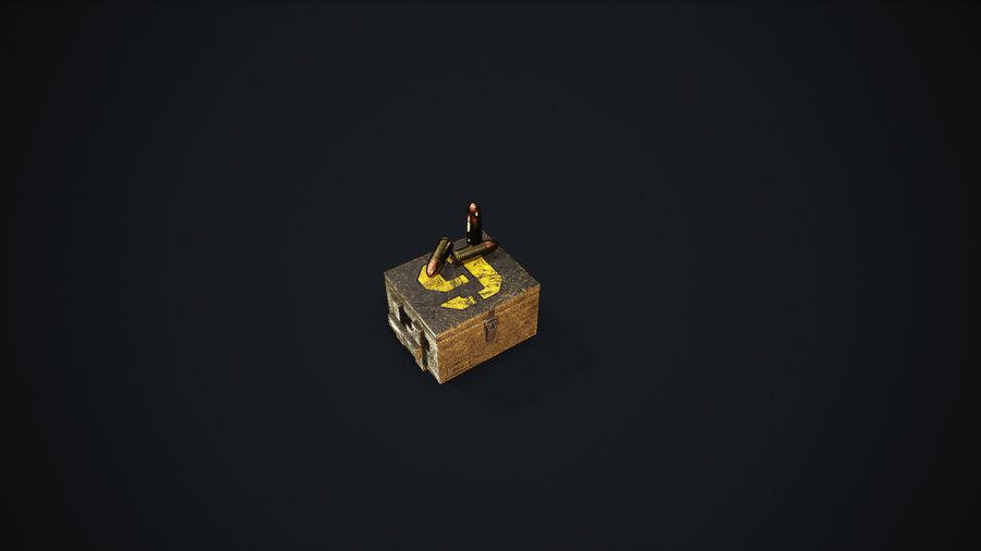 弹药盒 royalty-free 3d model - Preview no. 7