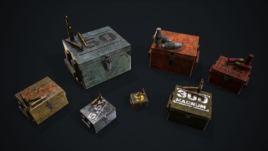 弹药盒 royalty-free 3d model - Preview no. 8