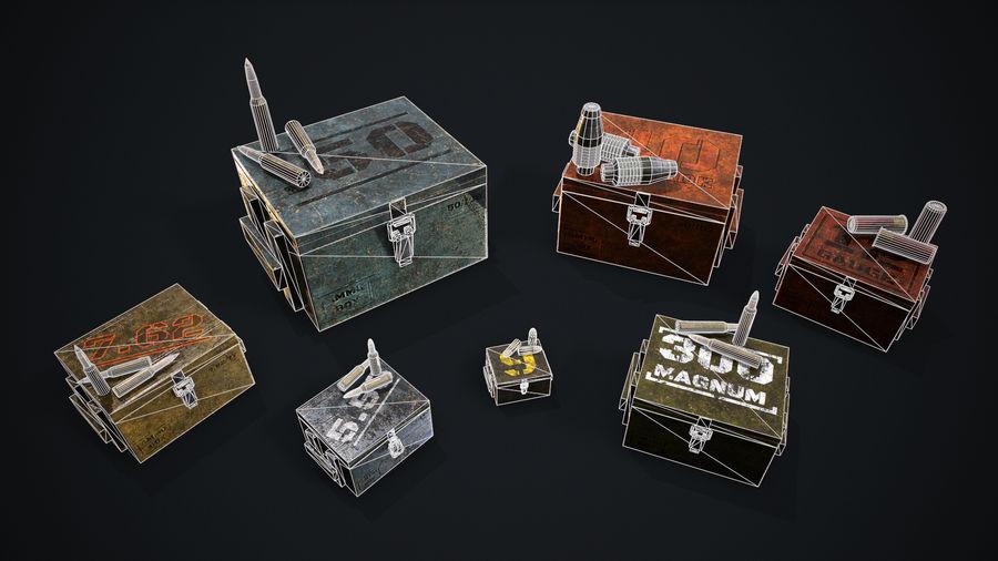 弹药盒 royalty-free 3d model - Preview no. 9