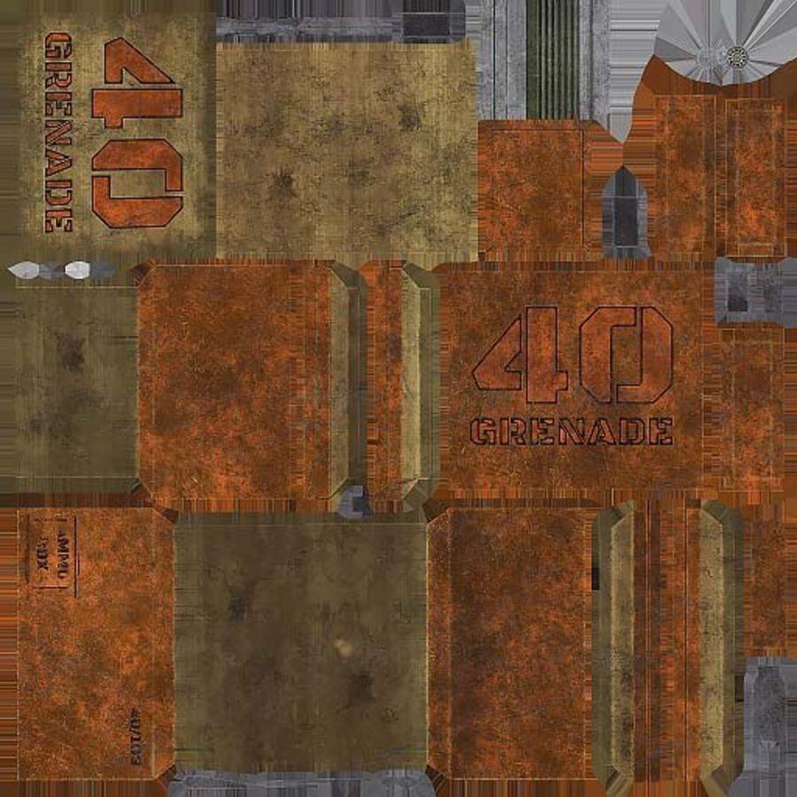 弹药盒 royalty-free 3d model - Preview no. 13
