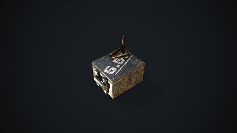 弹药盒 royalty-free 3d model - Preview no. 15