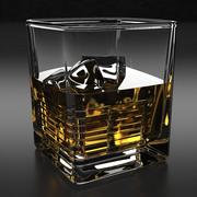 bicchiere di whisky 3d model
