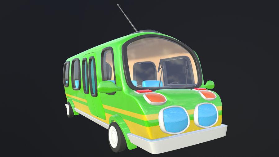 Asset - Cartoons - Bus - 02 - 3D Model royalty-free 3d model - Preview no. 4