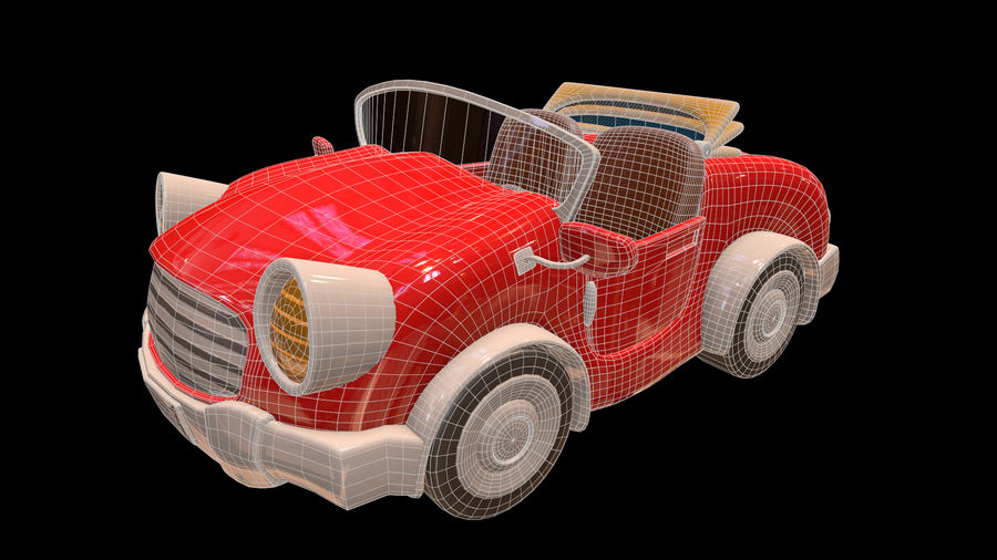 Ativo - Cartoons - Carro - 01 - Modelo 3D royalty-free 3d model - Preview no. 6