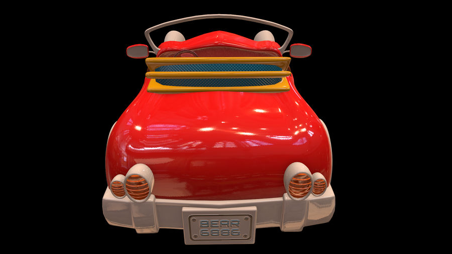 Ativo - Cartoons - Carro - 01 - Modelo 3D royalty-free 3d model - Preview no. 5